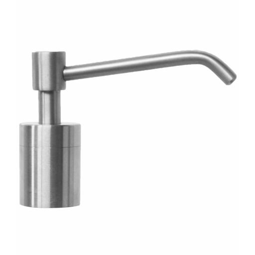 Elegante stainless steel counter top soap dispenser