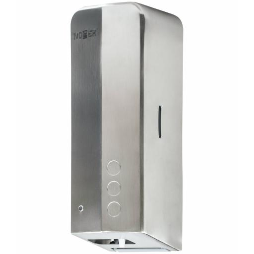 EVO FUGA touch free hand sanitizer dispenser with matt satin finish. 1000ml