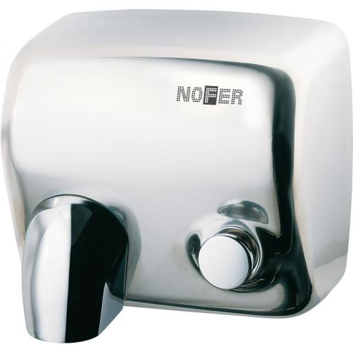 CYCLON manual wall hand dryer with a polished finish
