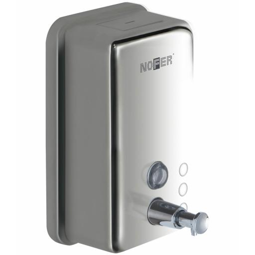Manual wall mounted soap disenser 1200ml in polished stainless steel