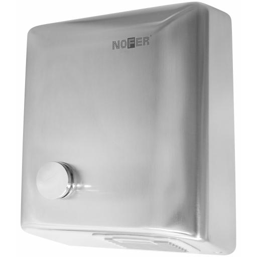 BIGFLOW manual hand dryer with a satin matt finish