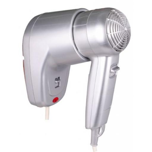 Hotel Line hair dryer 2 speed with wall support in grey