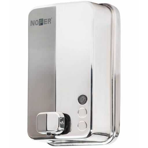 EVO range manual wall mounted soap disenser in polished stainless steel 1200ml