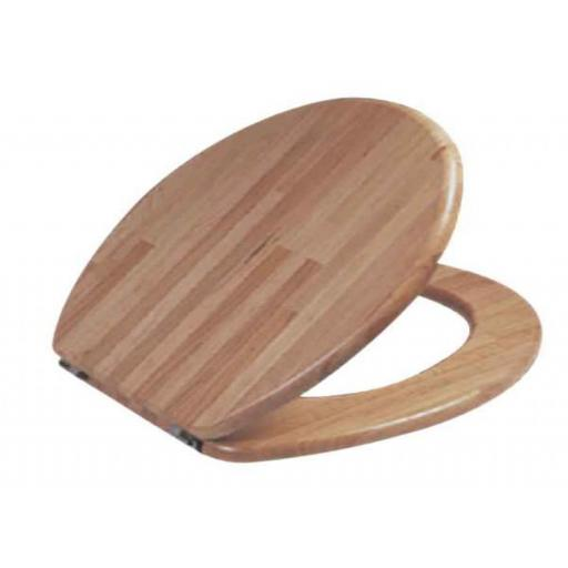 Woodern toilet seat with a walnut finish