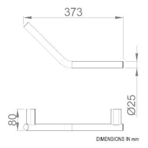 SANTORINI series 45º angled handle