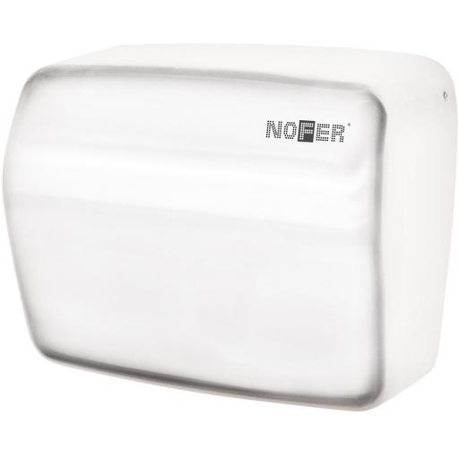 KAI series automatic wall hand dryer with a white painted finish