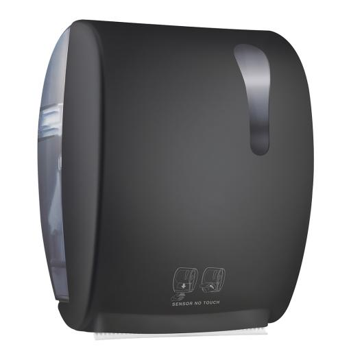 BLACK series automatic hand towel dispenser with manual cutter
