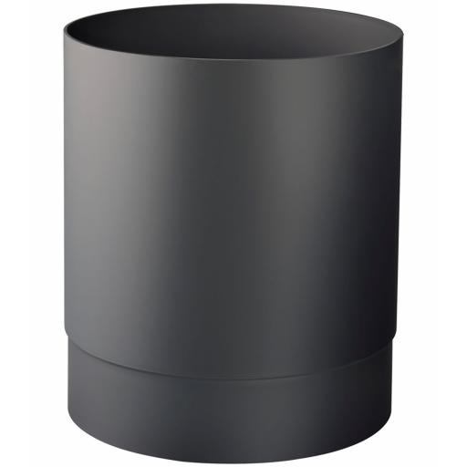 BLACK series round waste paper bin