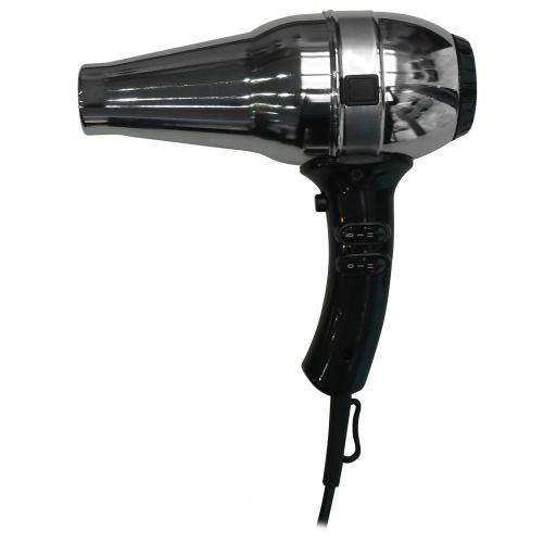 Hotel Line hair dryer in silver with black handle