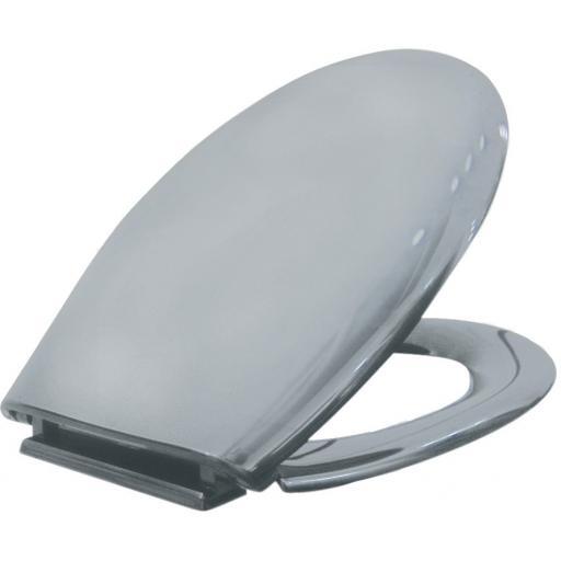 Stainless steel toilet seat