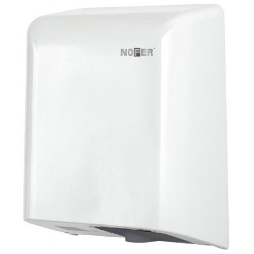 FUGA hand dryer with a white stainless steel cover
