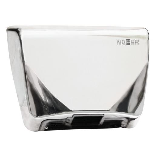 THIN series automatic wall hand dryer with a polished finish
