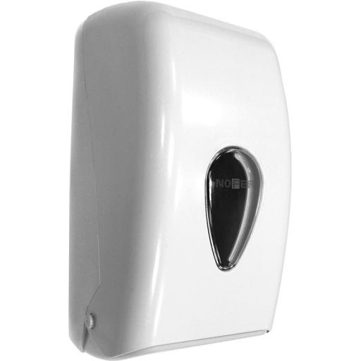 Bulk pack toilet tissue dispener. White