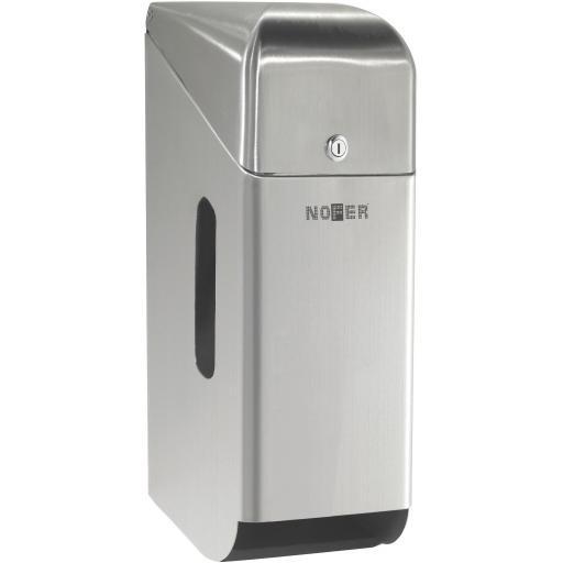 Domestic 3 roll paper dispenser. Satin