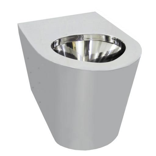 Stainless steel toilet 390 height | satin