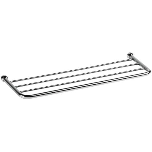 CLASSIC series round edged towel rack & shelf 600mm