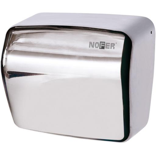 KAI series automatic wall hand dryer with a polished finish