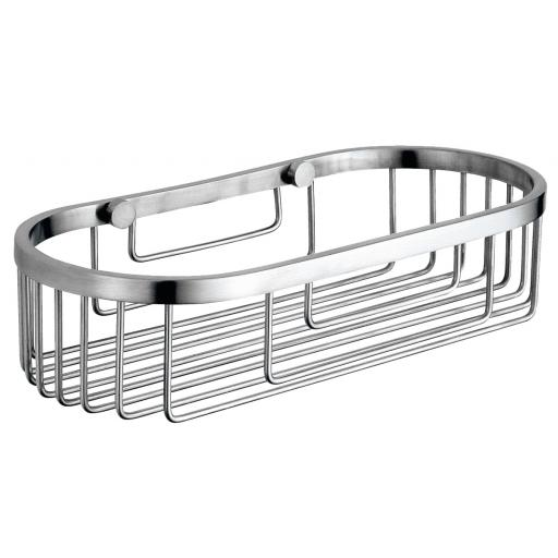 Soap basket in chrome plated brass