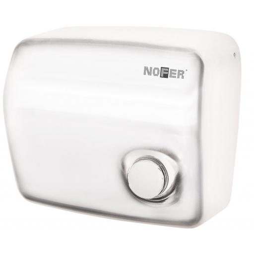 KAI series manual wall hand dryer with a white painted finish