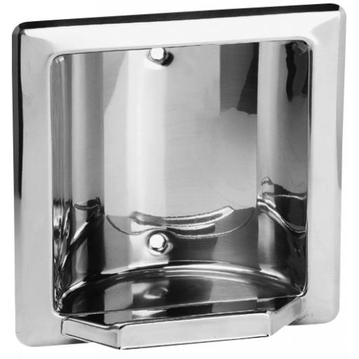 CLASSIC series recessed soap dish with a polished finish