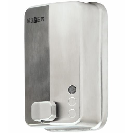 EVO range manual wall mounted soap disenser in satin matt stainless steel 1200ml