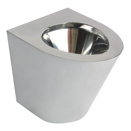 Stainless steel toilet 390 height | polished