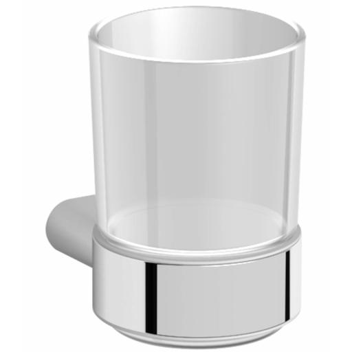 SANTORINI series glass tumbler with wall support