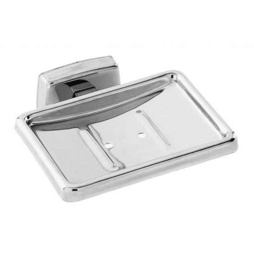CLASSIC series soap dish with wall bracket & polished finish
