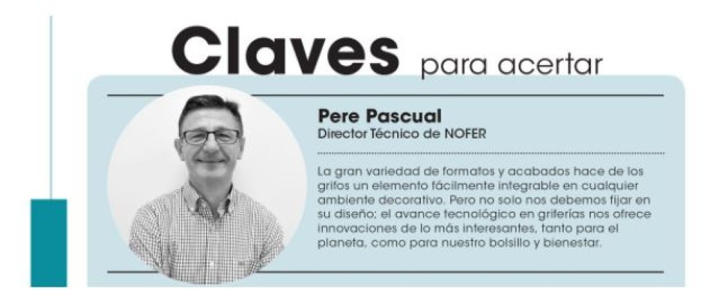 An interview with Nofer´s expert Pere Pascual. in the Interiores magazine, April 2019