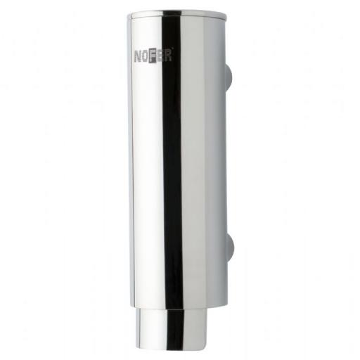 Manual wall mounted round soap dispenser in stainless steel 300ml