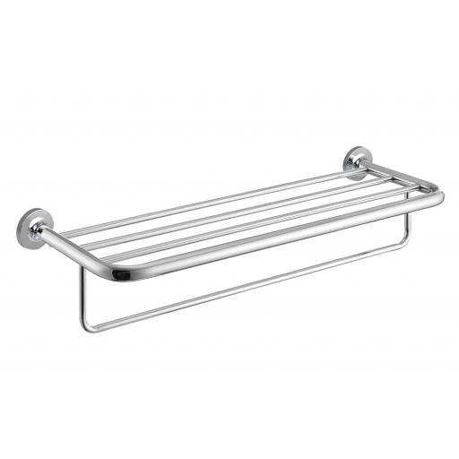 HOTEL series towel rail with lower bar